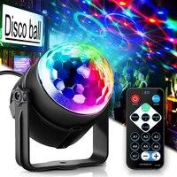 RGB диско-шар светильник для диджея, диско-свет, светодиодный прожектор, Стробоскопическая Лампа для дня рождения, вечеринки, автомобиля, клу...