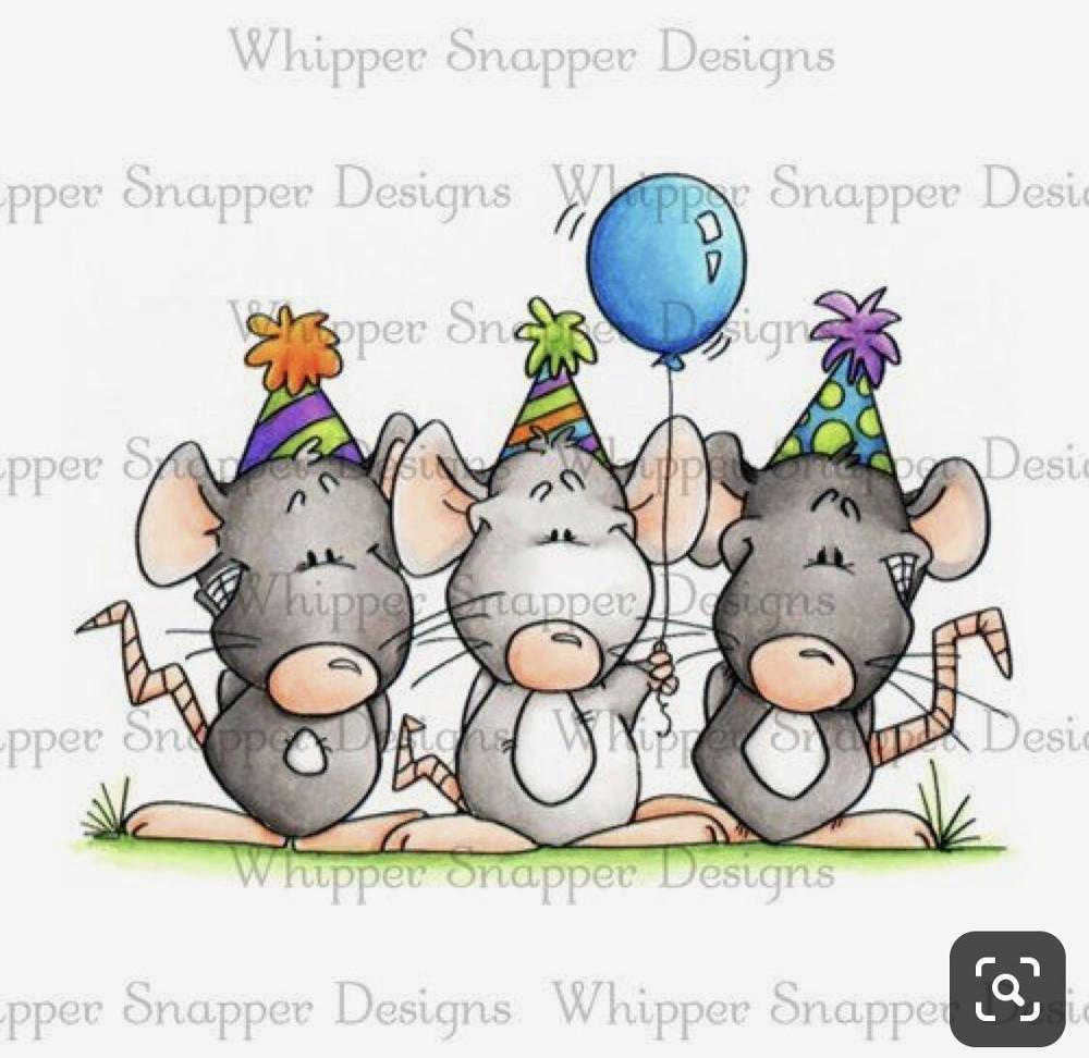 10x8 tres ratones sosteniendo globos sellos transparentes de silicona para DIY Scrapbooking/fabricación de tarjetas/suministros de decoración para niños