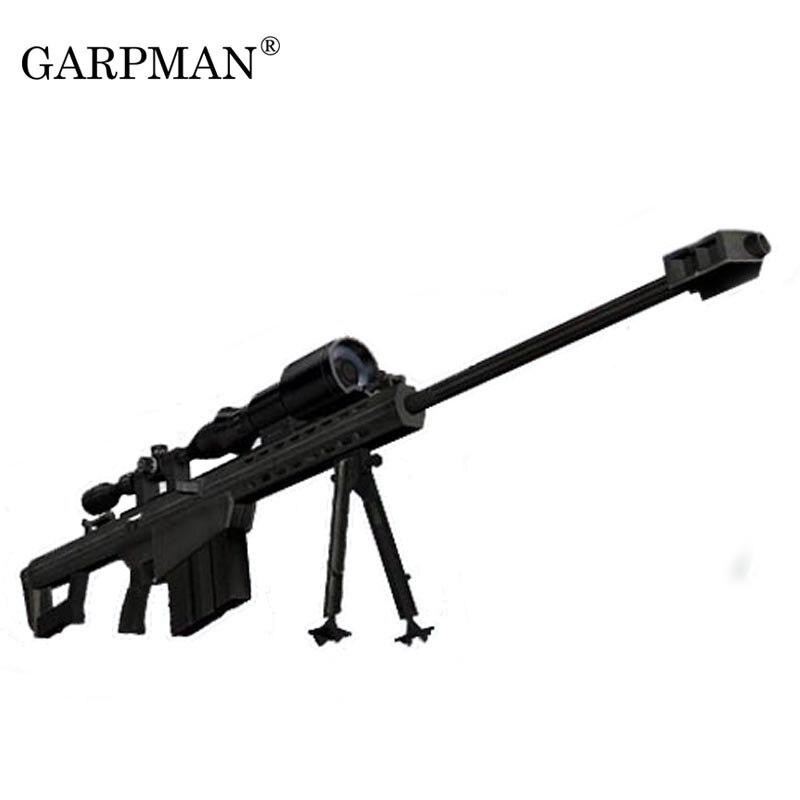 1:1 Barrett M82A1 Sniper Rifle Gun Papier Modell Waffe Magazin 3D Papercraft Puzzles Spielzeug