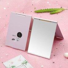 Mini- Cartoon Ultra-thin Makeup Mirror Vanity Cosmetic 4 Sizes Make Up Pocket Silver Rectangle Foldable Compact Folding Mirrors
