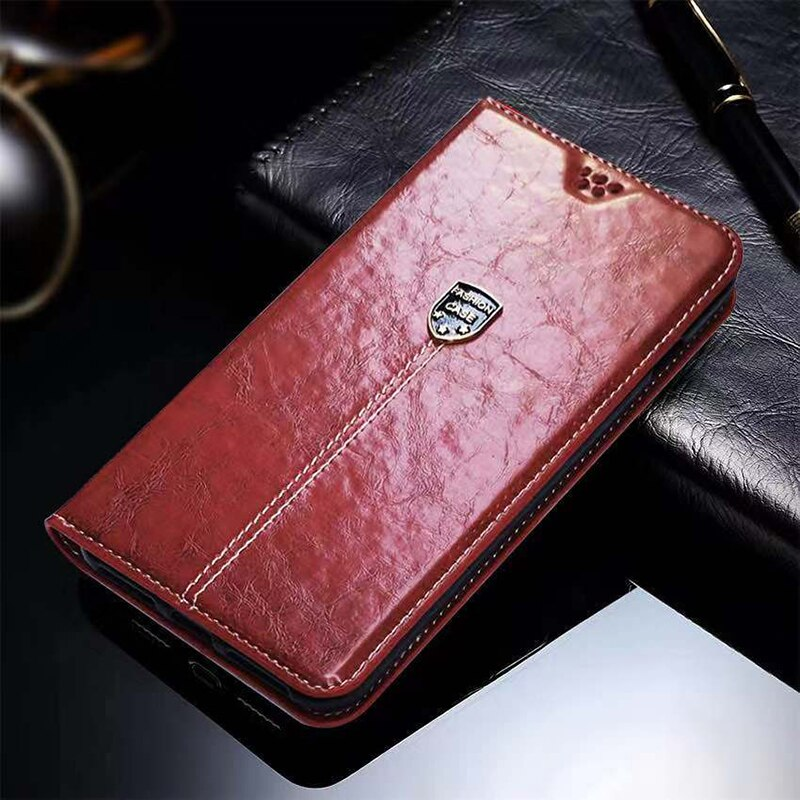 Fundas de cuero para Sony Xperia E5 funda para Sony E5 F3313 F3311 funda con tapa cartera bolsa de teléfono con soporte de tarjeta