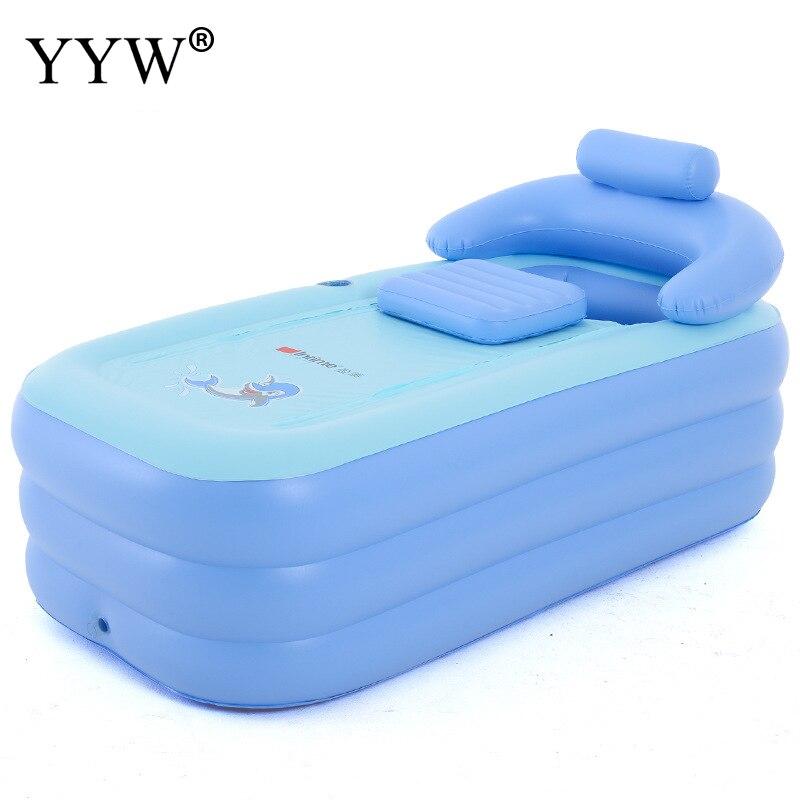 1.6m adulte baignoire Portable gonflable baignoire maison pliant baril enfants peuvent sasseoir mentir Pvc baignoire Spa bain baril Tubbath