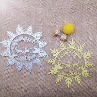 new metal cutting dies scrapbooking happy new year snowflake diy album paper card craft embossing stencil dies 100100mm