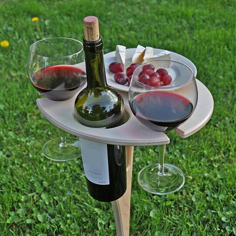 Mesa de vino Plegable portátil para acampar al aire libre, Mini estante...