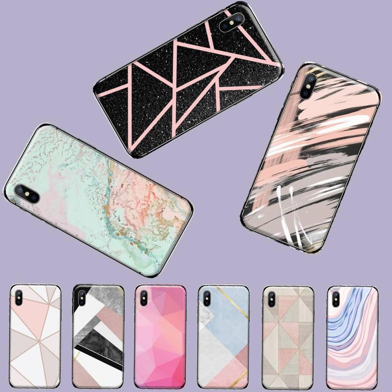 Patrón de mármol rosa teléfono funda coque funda bape móvil para iphone 5 5s 5c se 6 6s 7 8 plus x xs xr 11 pro max