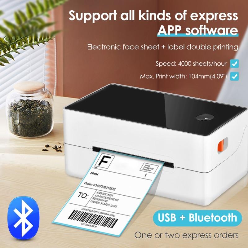 Принтер для печати этикеток, принтер для печати этикеток с высокой скоростью, совместимый с Windows Bluetooth