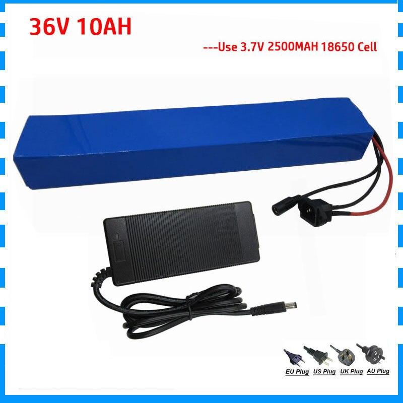 500W 10S4P 36 voltios bicicleta eléctrica bicicleta batería 36 v 10Ah 14AH litio 18650 bateria akku con BMS 42V 2A cargador de capacidad Real