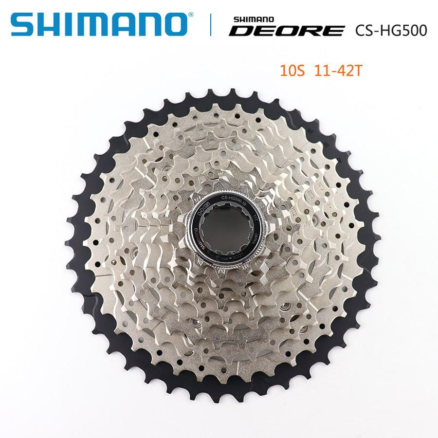 Shimano deore m6000 cs hg500 hg50 10 velocidade mountain bike roda livre mtb cassete roda dentada 11-36t 11-42t