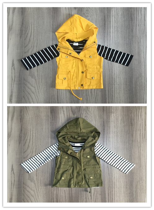 Menina roupa do bebê meninas 2 pcs raglans outfits manga longa tarja com capuz casaco meninas roupas de inverno