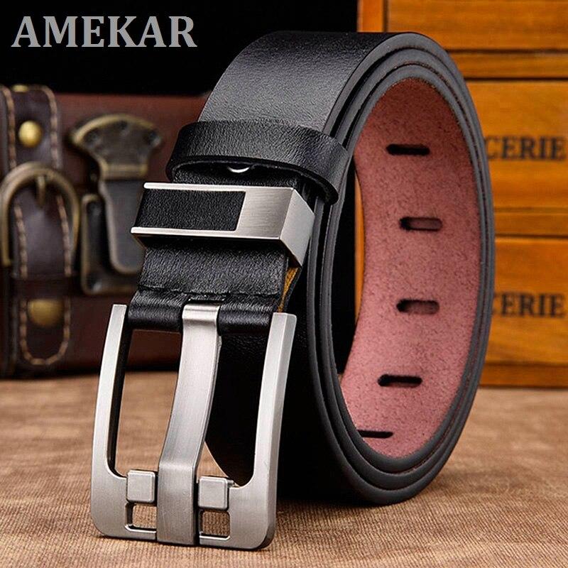 [LFMB]belt male leather belt men strap male genuine leather luxury pin buckle belts for men belt Cum