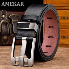 [LFMB]belt male leather belt men strap male genuine leather luxury pin buckle belts for men belt Cum
