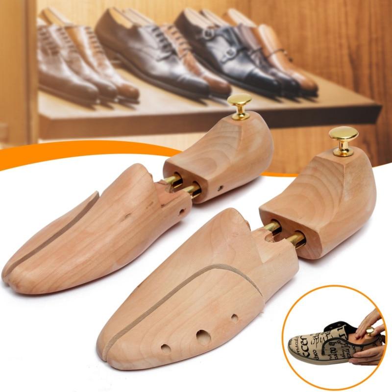 1 Pair Shoe Tree Wood Shoes Stretcher, Wooden Adjustable Man Women Flats Pumps Boot Shaper Rack Expa