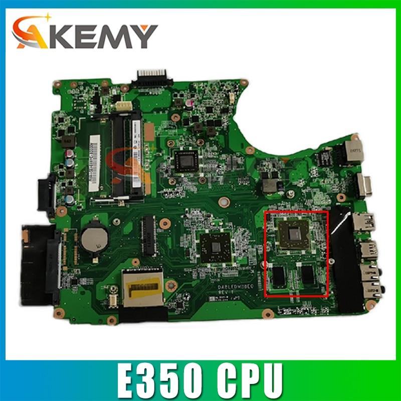 AKEMY لوحة رئيسية A000081070 DABLEDMB8E0 لتوتوشيبا الأقمار الصناعية L750D اللوحة الأم للكمبيوتر المحمول E350 CPU اختبار كامل