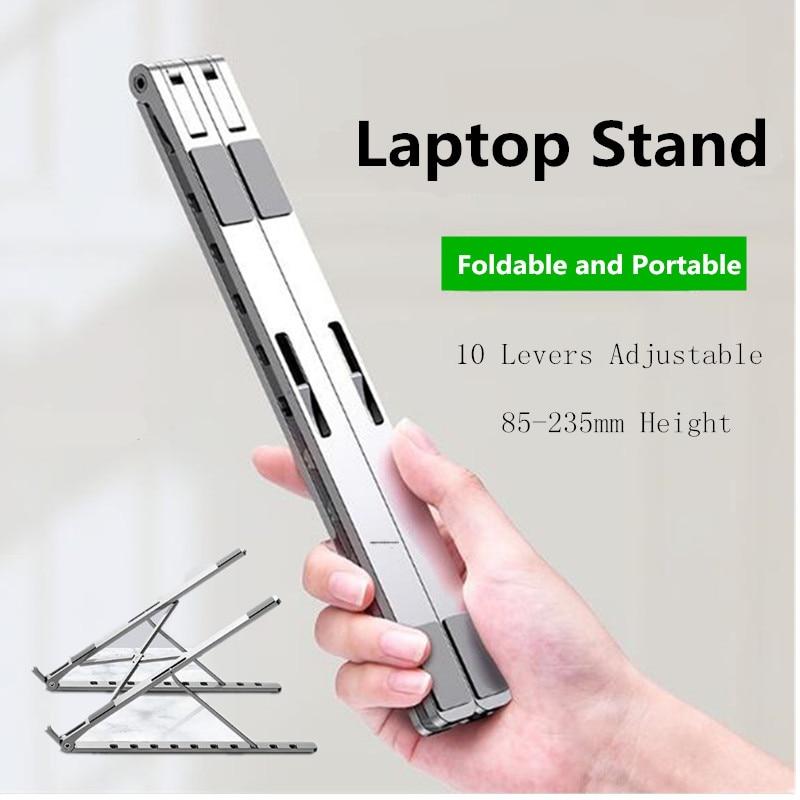 حامل كمبيوتر محمول قابل للطي ، حامل معدني قابل للتعديل ، لسطح المكتب والكمبيوتر المحمول ، إصدار جديد