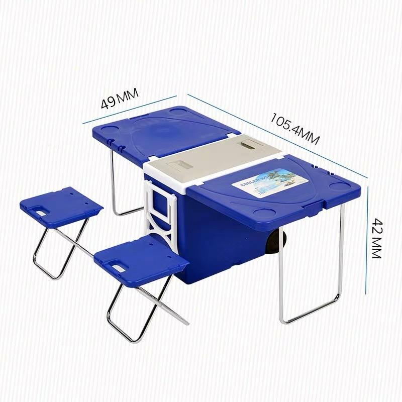 Многофункциональный Удобный внешний холодильник для стула, пляжный автомобильный холодильник со стулом