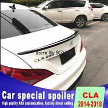 2013-2017 메르세데스-벤츠 cla 클래스 w117 cla45 cla250 cla260 abs 소재 자동차 후면 윙 프라이머 컬러 고품질 스포일러