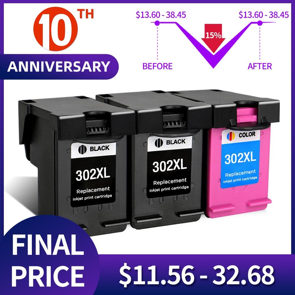 QSYRAINBOW Замена для HP 302 XL hp 302 302XL чернильный картридж для HP DeskJet 1110 2130 NS45 для HP Officejet 3630