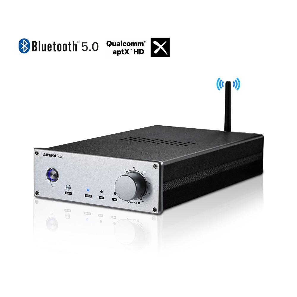 AIYIMA بلوتوث 5.0 A60 LM3886 HiFi مكبر كهربائي CSR8675 AptX AptX-HD LDAC مضخم الصوت 60Wx2 ل نظام مسرح منزلي