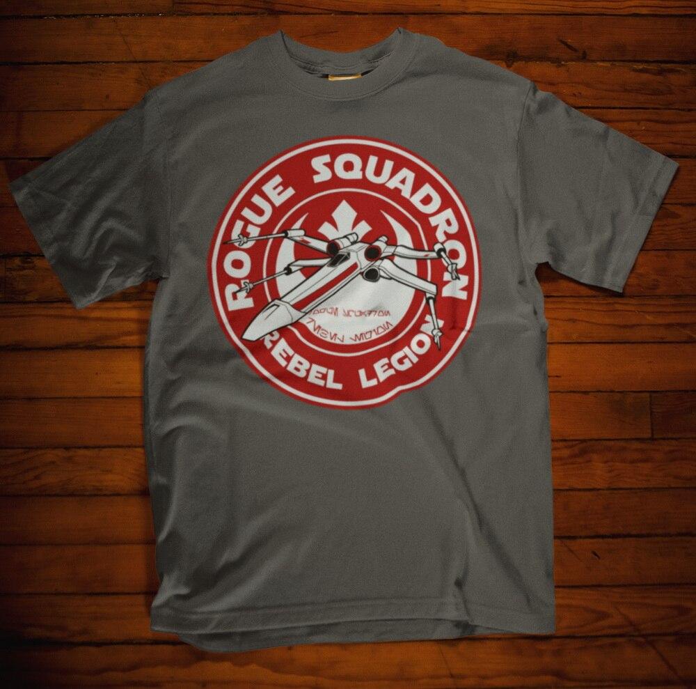 T-Shirt Rogue Squadron Rebel Scum Empire Force Fighter Legion Retro New Cool Tee Shirt