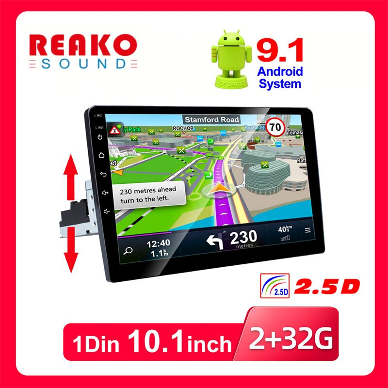 REAKOSOUND 1Din Car Multimedia Player Autoradio Stereo Video 10'' Touch Screen GPS WiFi For Auto Rad