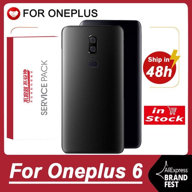 Оригинальный сменный задний корпус для Oneplus 6, задняя крышка, аккумулятор, стекло для One Plus 6, задний Сменный Чехол с логотипом