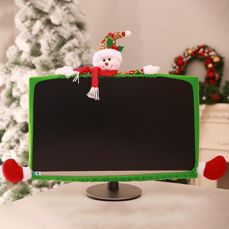 Cubierta antiestática para Monitor de Navidad para ordenador LCD de 19-27 pulgadas/Pantalla de Panel LED LHB99