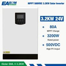 EASUN POWER 500Vdc Solar Inverter 3200W 24V 220V 80A MPPT 4000W PV Reinen Sinus-wechselrichter 3Kva 50Hz Off Grid Inverter Ladegerät
