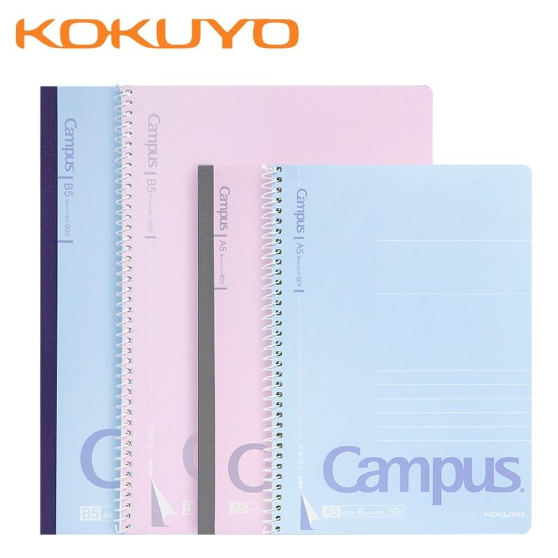 4 pces kokuyo campus notebook engrossar fácil rasgo grosso espiral bobina estudante simples horizontal linha de trabalho record notepad a5/b5