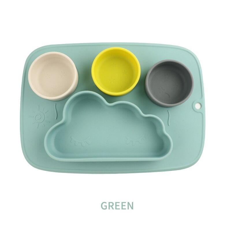 Присоски для кормления, детское питание, силиконовая миска в форме облака, поднос, Vajillas Plato, Детские присоски, детский коврик для кормления