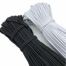 5yards/Lot 1/1.5/2/2.5/3/4mm yuvarlak yüksek elastik dikiş elastik bant Fiat lastik bant bel bandı streç halat elastik şerit