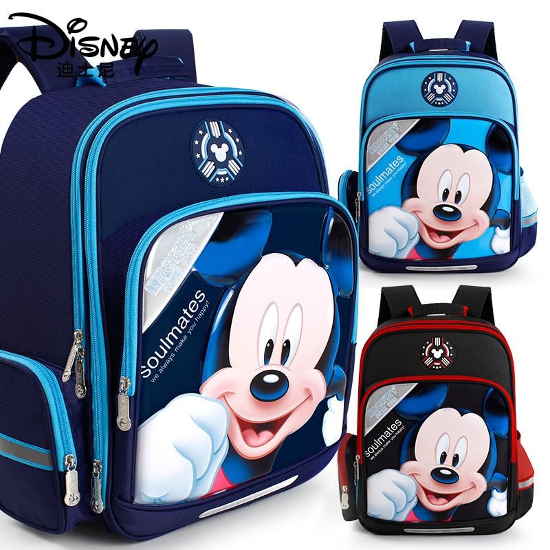 mochila impermeavel de eva e mickey mouse para meninos bolsa escolar de desenho animado