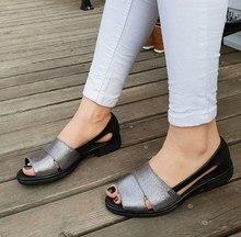 Elexus femmes sandales 1018 été nouvelle saison bout ouvert noir élégant confortable qualité bureau 2020 chaussures décontractées classiques