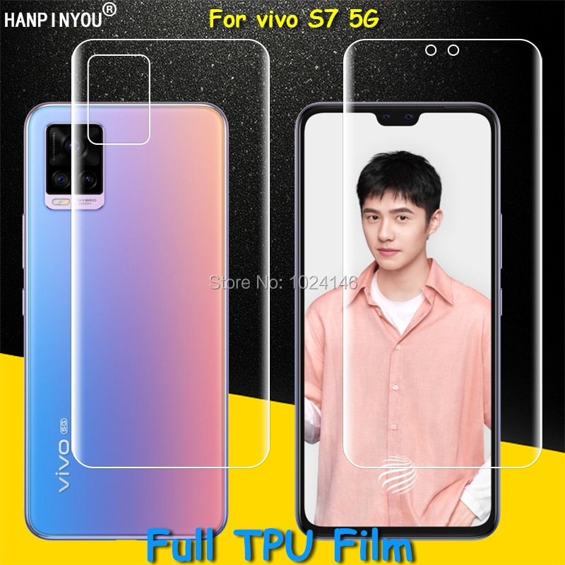 Front / Back Full Coverage Clear Soft TPU Film Screen Protector For vivo S7 S 7 5G 6.44