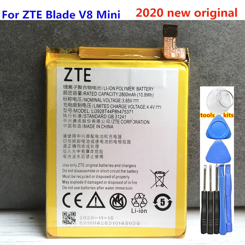 New Original 2800mAh Li3928T44P8h475371 Battery For ZTE Blade V8 Mini V8mini BV0850 V0850 Batteries