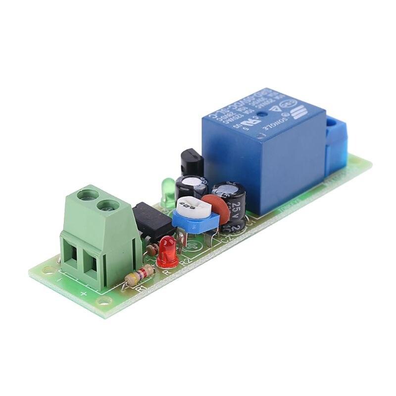 Ne555 relé dc 5v temporizador atraso ajustável desligar interruptor módulo de relé de tempo 425d