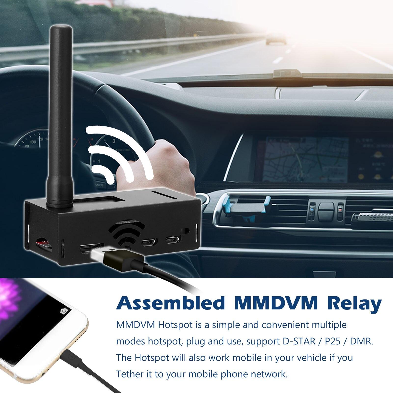 Estação de Rádio Montado Mmdvm Relé Wifi Hotspot Placa Digital Retransmitindo Dispositivo Suporte Dmr P25 Ysf D-star 0.5ppm