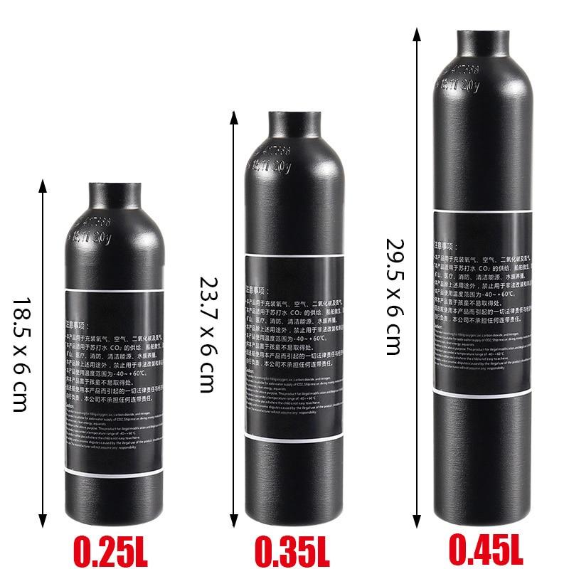 خزان هواء من الألومنيوم CO2 ، اسطوانة تعبئة مضادة للانفجار ، ضغط عالي ، 4500Psi