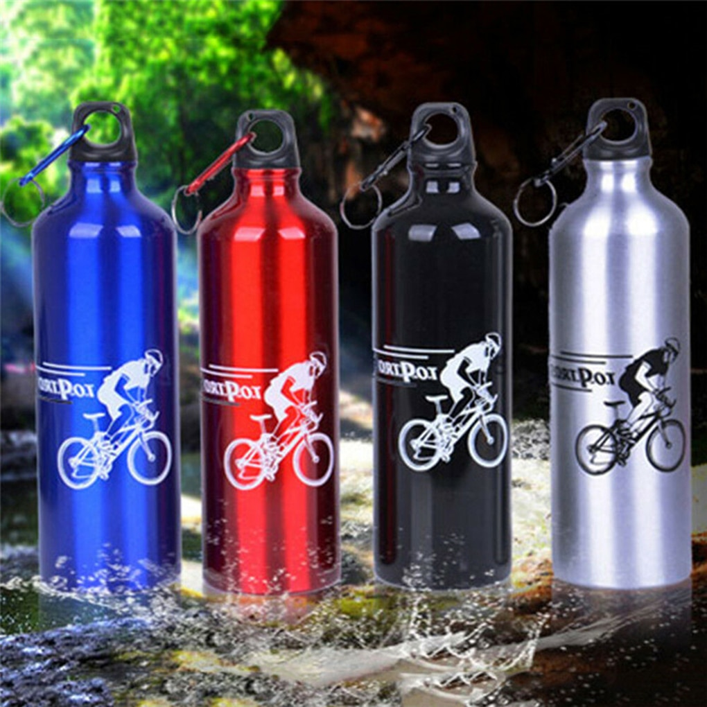 AliExpress - Cycling Camping Drink Bottle Bicycle Outdoor Sports Aluminum Alloy Water Bottle Portable Metal Sport 750ml Bottle