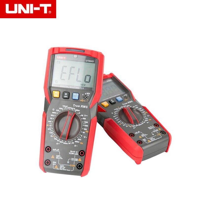 UNI-T UT89X/UT89XD 20A Alta Corrente RMS Verdadeiro Multímetro Digital Multímetro NCV Teste de Temperatura Capacitor
