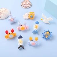 underwater animal pins rudder crab seagull starfish fish bones cartoon brooches ocean badges jewelry gift women men accessories