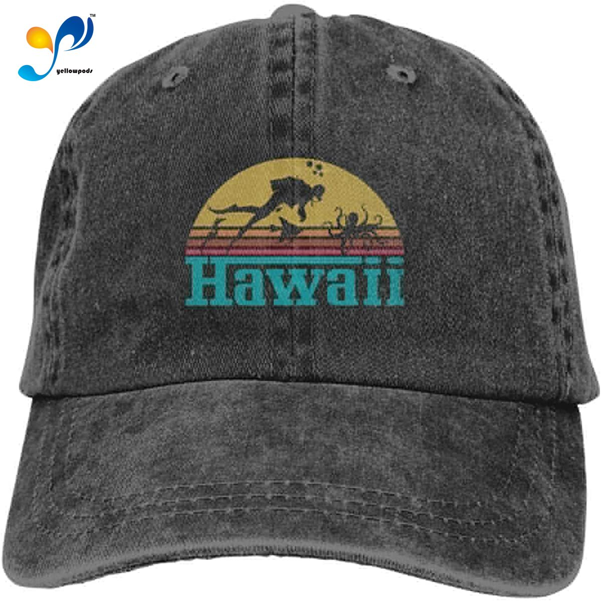 Vintage 1980style s estilo hawaii unisex macio casquette boné de beisebol chapéu moda vintage ajustável