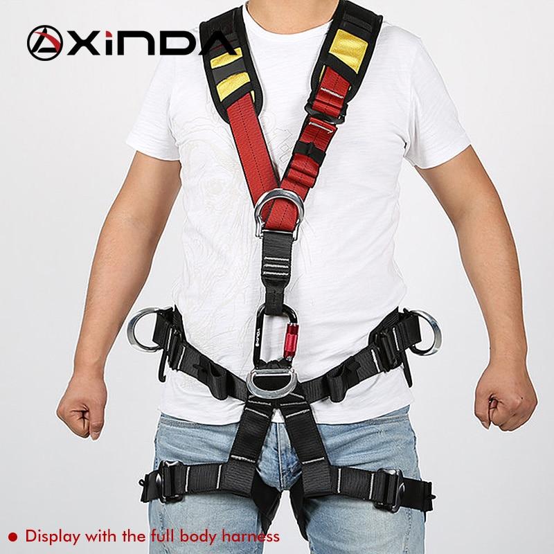 Поддерживающий ремень Xinda для альпинизма, альпинизма, походов на дерево, работы на открытом воздухе, скалолазания, безопасности на груди