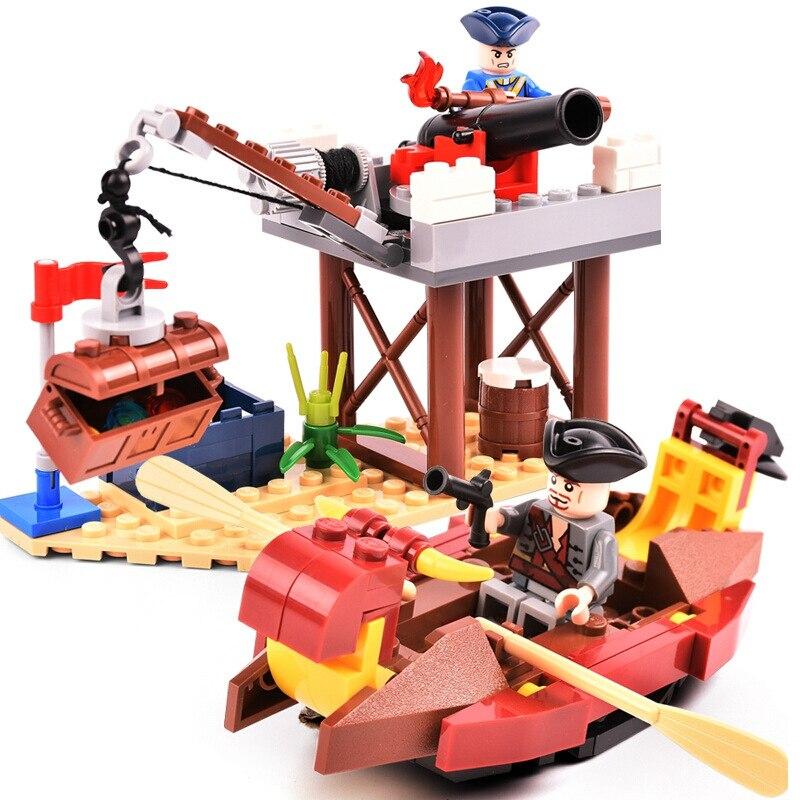 GUDI Pirate ship toy Series Port Royale Death Island Ghost Ship Model kit Building Blocks Sets Bricks Educational kids toys gift