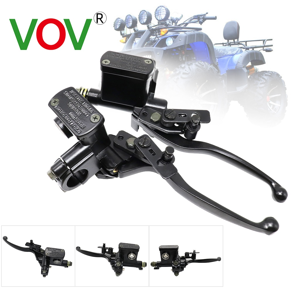Hydraulic Brakes Universal Motorcycle brake Pump Buggy Scooter Cylinder Pump Handle Accessories Left Right Clutch Lever 50-250CC motorcycle brake pump buggy scooter universal cylinder hydraulic clutch handle accessories left right black silver brake lever