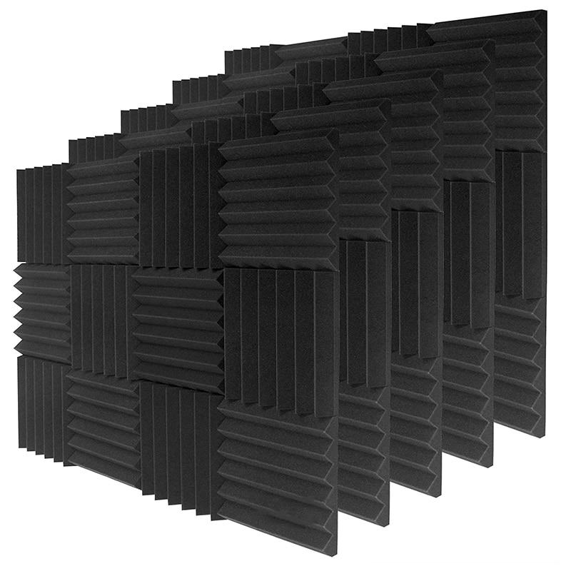 24 قطعة لوحات رغوة الصوت 2 بوصة x 12 بوصة x 12 بوصة ، انتعاش سريع لوحات عالية الكثافة ، لوحة امتصاص الصوت للاستوديو والمنزل