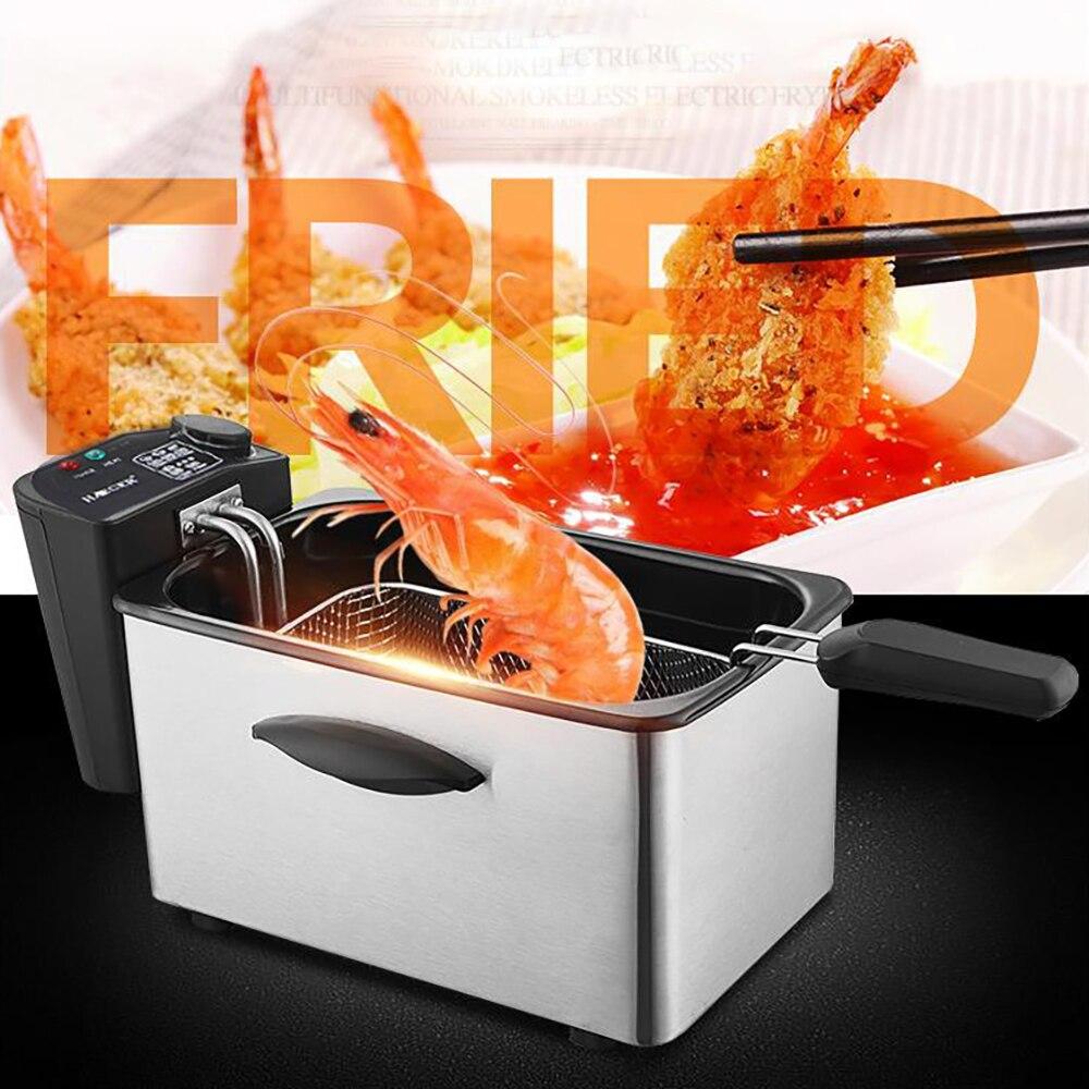 مقلاة كهربائية منزلية مقلاة عميقة مقلاة كهربائية جهاز قلي أصابع البطاطس المقلية أسياخ طعام مقلي مقلاة منخفضة الدهون