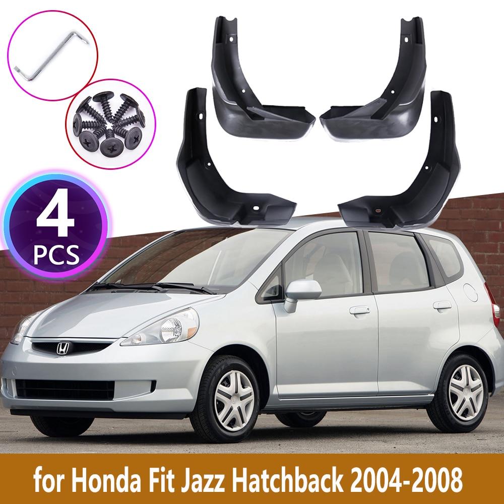 4 шт. задние брызговики для Honda Fit Jazz Hatchback 2004 2005 2006 2007 2008 облицовка Брызговики аксессуары