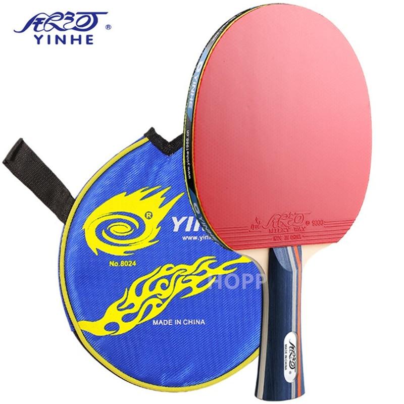 Ракетки Yinhe 01b резиновые для тренировок, оригинальные ракетки для настольного тенниса Galaxy Yinhe, ракетки для пинг-понга, летучая мышь