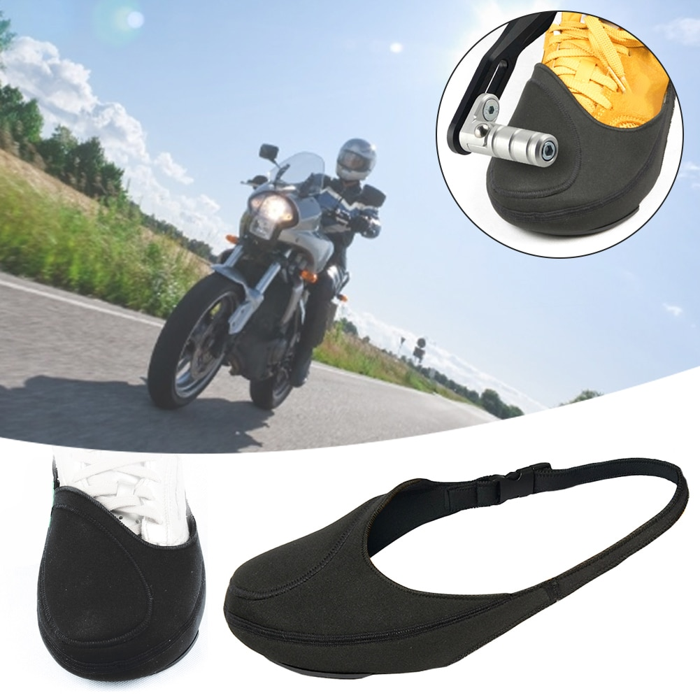 Motorcycle Gear Shift Shoes Cover Anti-slip Waterproof Cycling Shoes Cover Scuff Mark Protector Motorbike Boots Cover Adjust