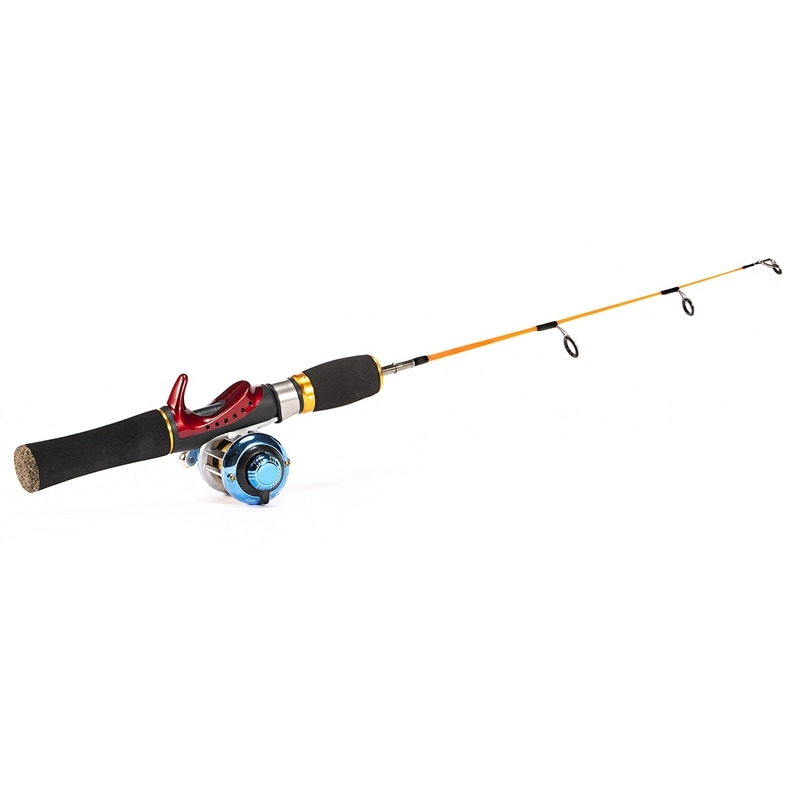 52cm Ice Fishing Rods Portable Pocket Winter Fishing Rods Combo Pen Pole Lures Tackle Spinning Casting Hard Rod enlarge